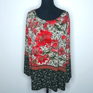 The Limited Collection Floral Tunic Peasan…
